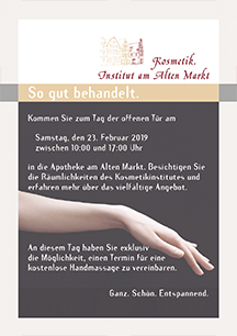 Schaufensterbanner: So gut behandelt.