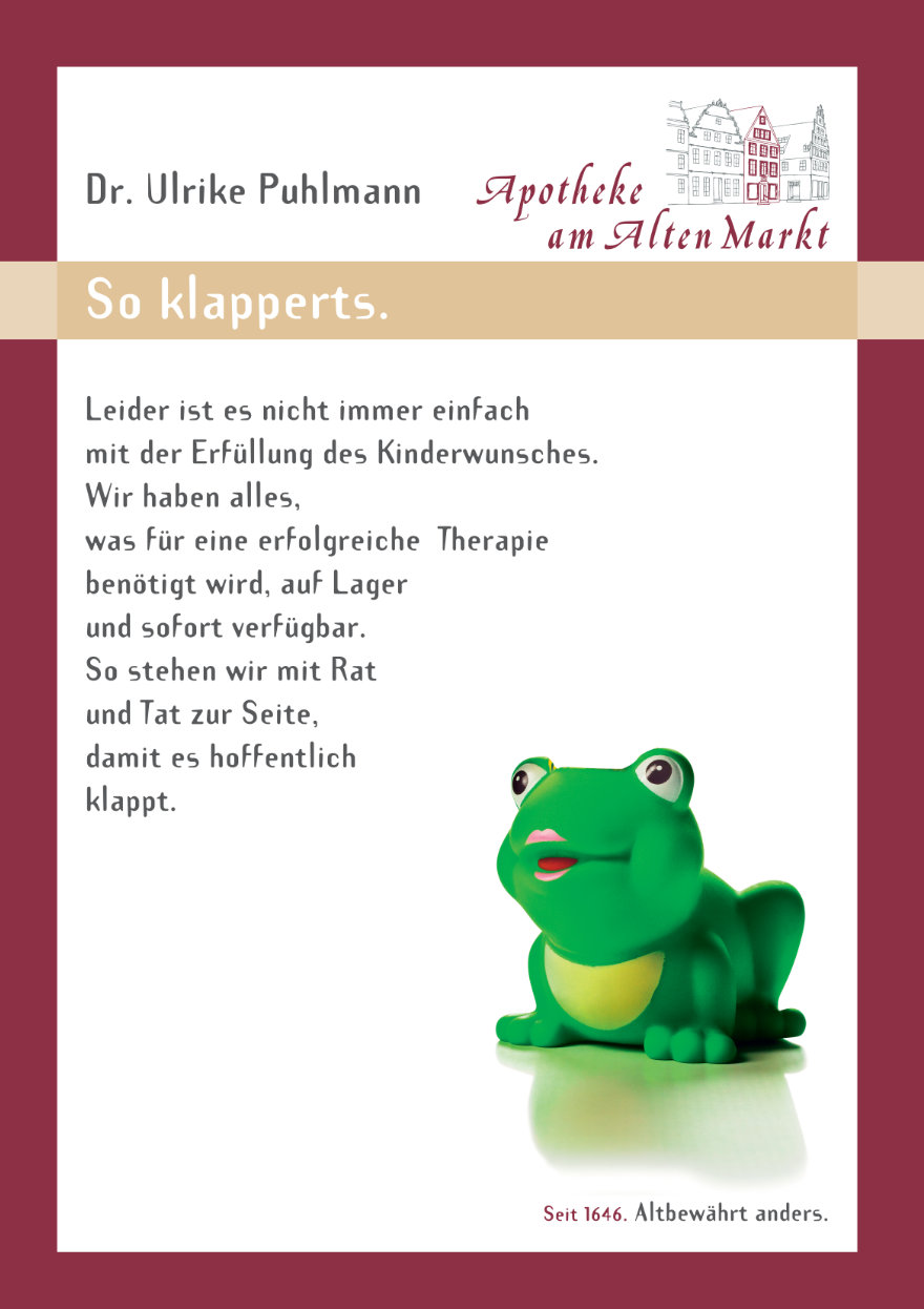 Schaufensterbanner: klapperts.