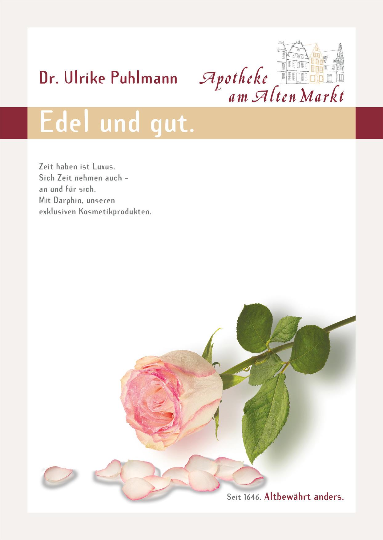 Plakat: Edel und gut.