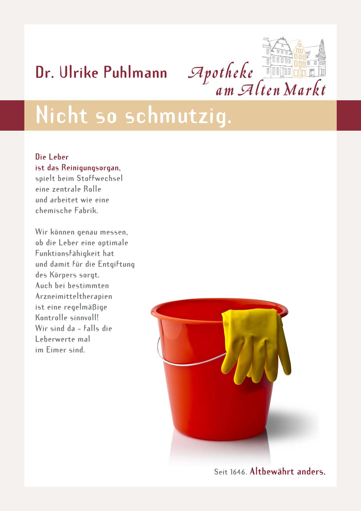 Plakat: Nicht so schmutzig.