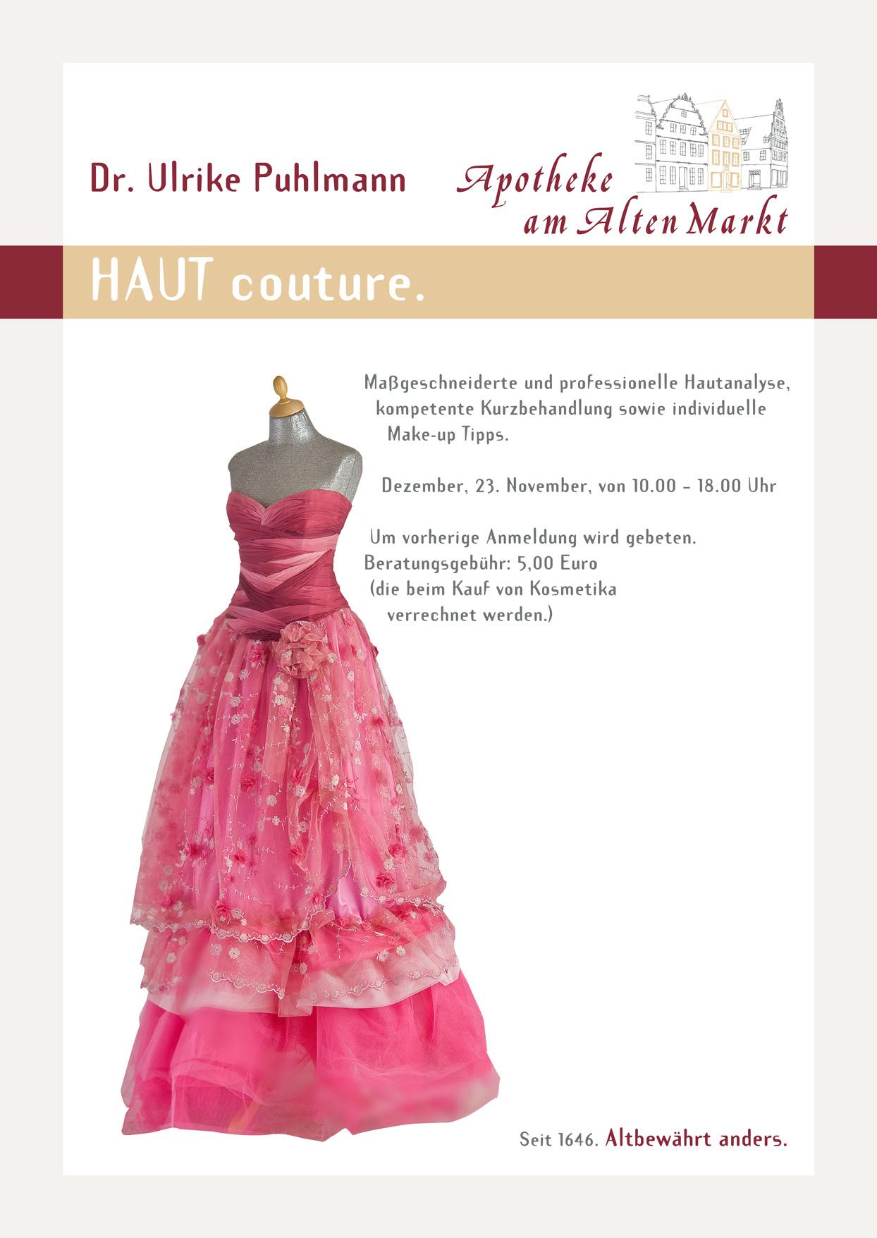Plakat: HAUT couture.