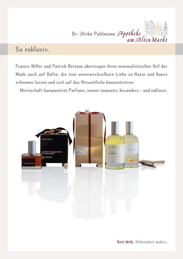 Apotheke am alten Markt - Plakat Parfums / Düfte