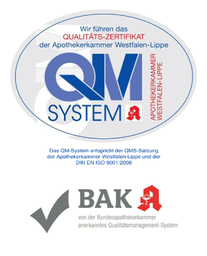 Logos von QMS + BAK