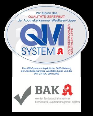 Logos von QMS + BAK