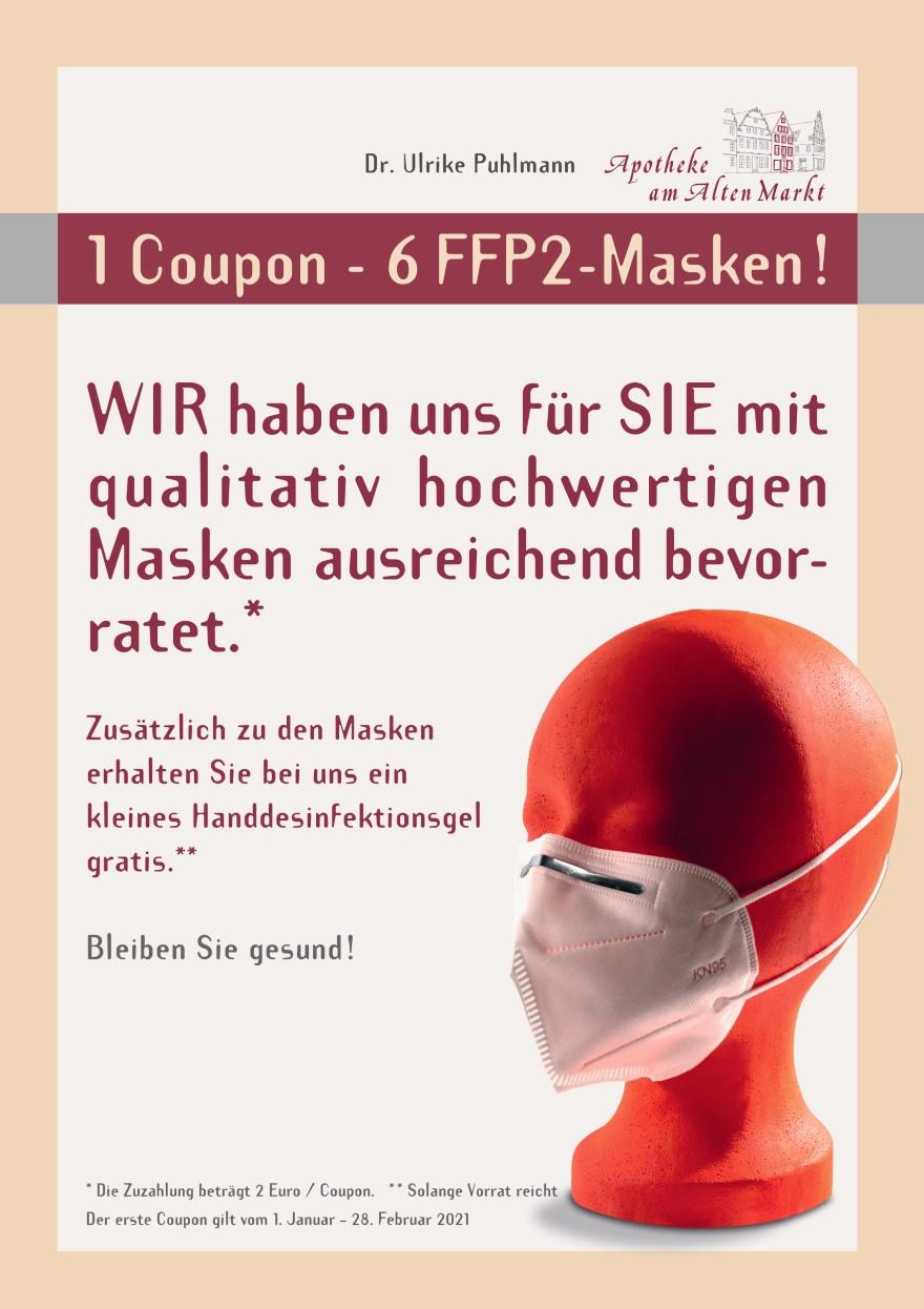 Apotheke am Alten Markt - Poster - FFP2-Masken